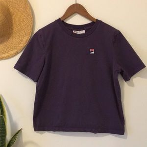 FILA Box Tee in Purple Size Small